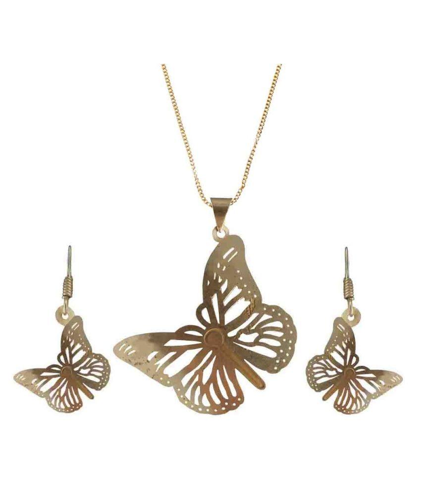 Rejewel Golden Pendant Set