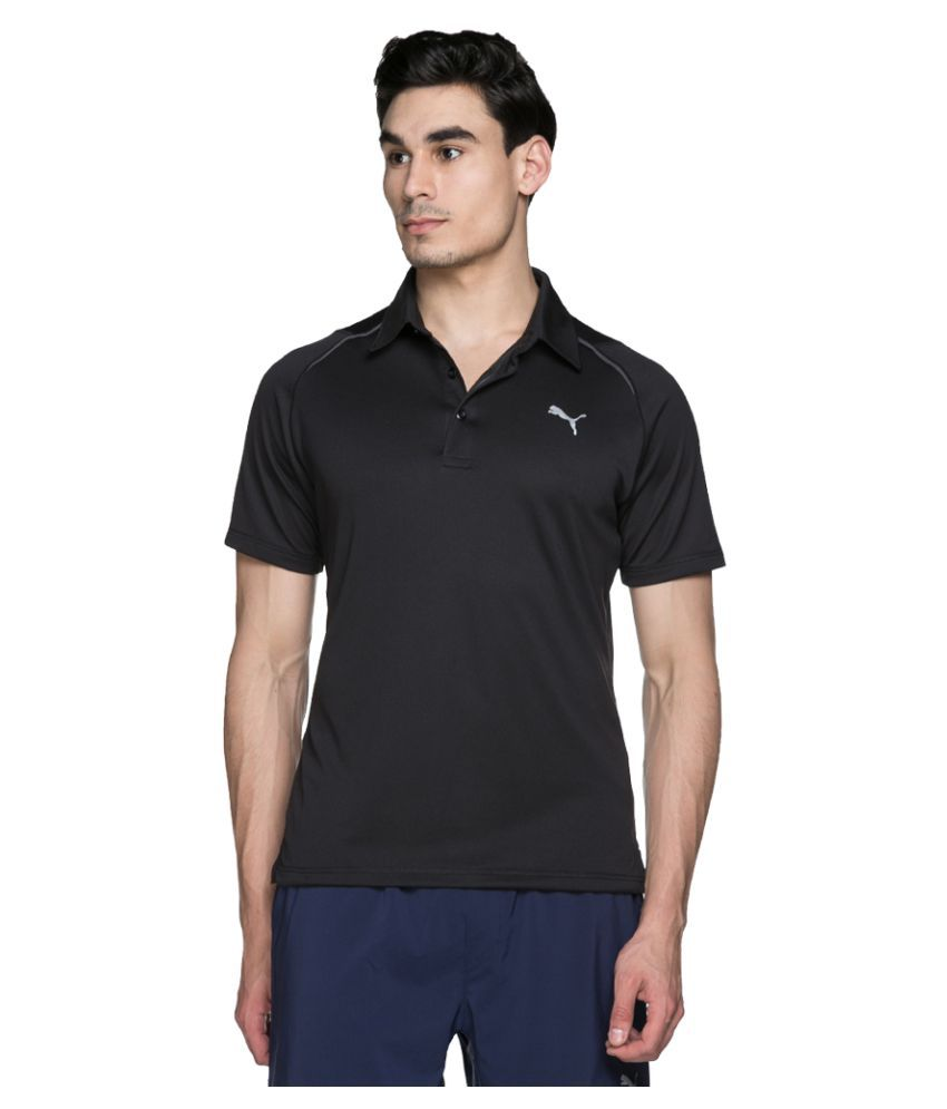 Puma Black Regular Fit Polo T Shirt