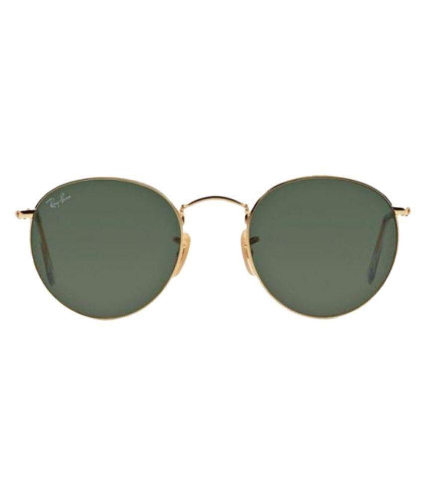 2880bcfdec1 Ray-Ban Green Round Sunglasses ( RB3447 001 50-21 ) - Buy Ray-Ban ...