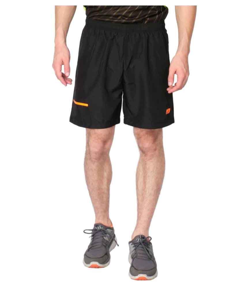 Vector X Black Sports Shorts