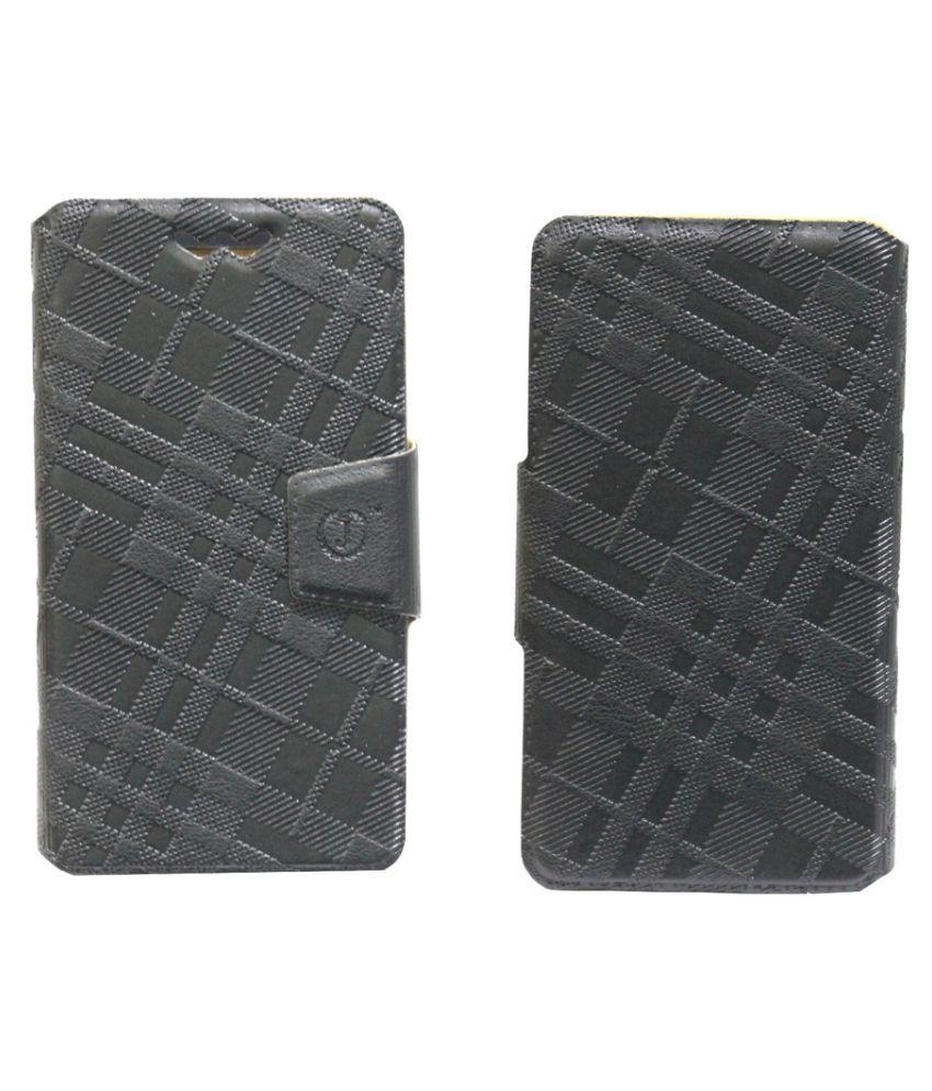 HTC Desire XC Flip Cover by Jojo - Black