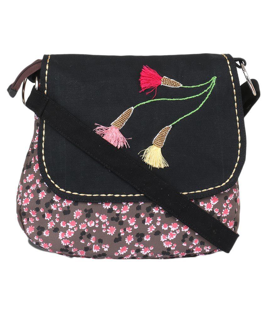 Pick Pocket Gray Canvas Sling Bag