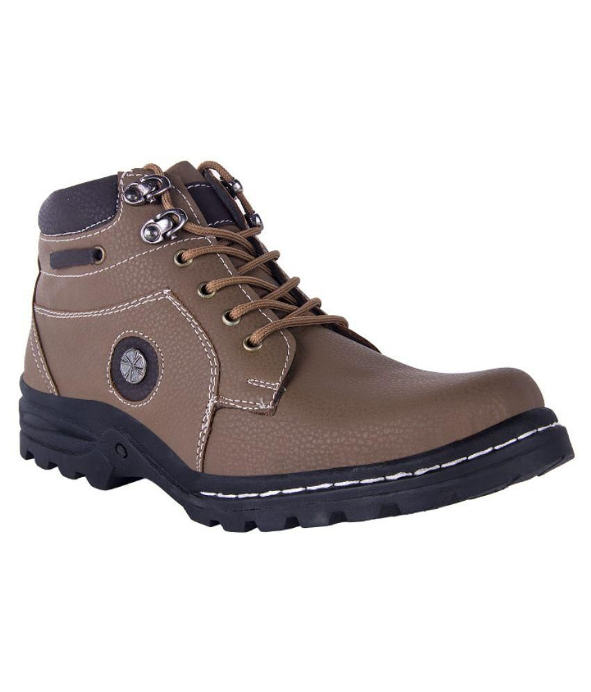 Red Marine Brown Casual Boot