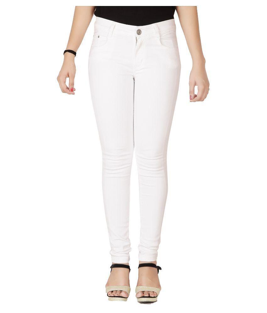 Flirt Nx Denim Lycra Jeans - White