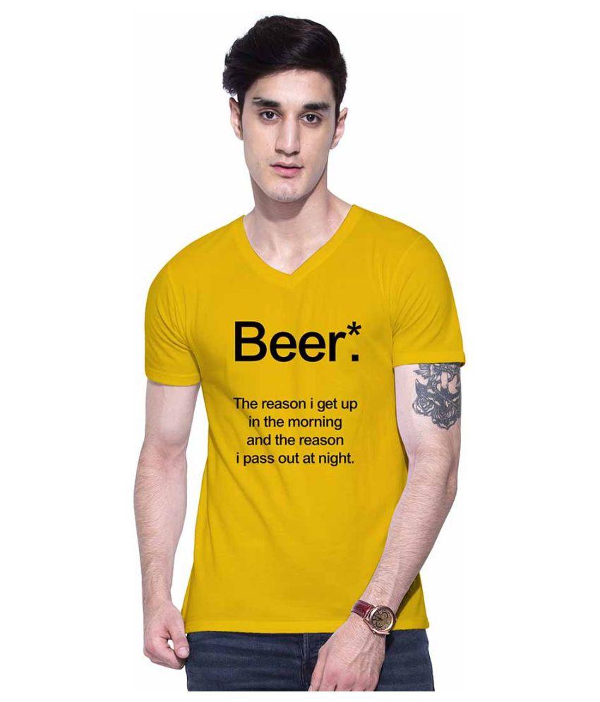 Uptown 18 Yellow V-Neck T-Shirt