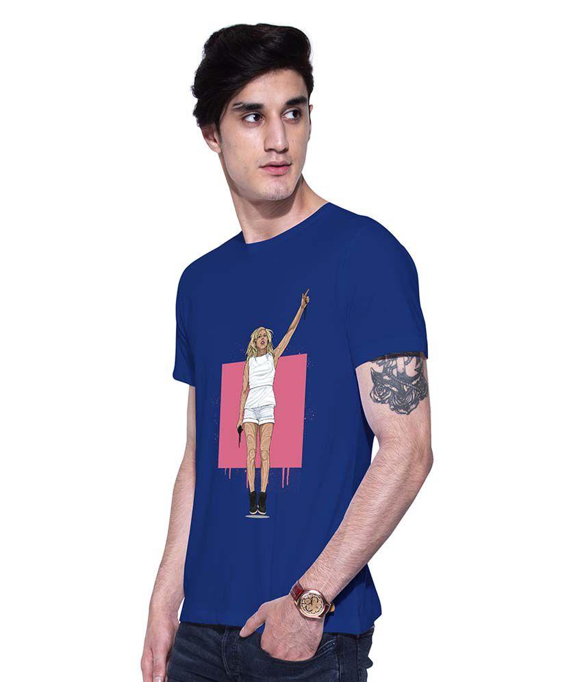 uptown18 Blue Round T-Shirt
