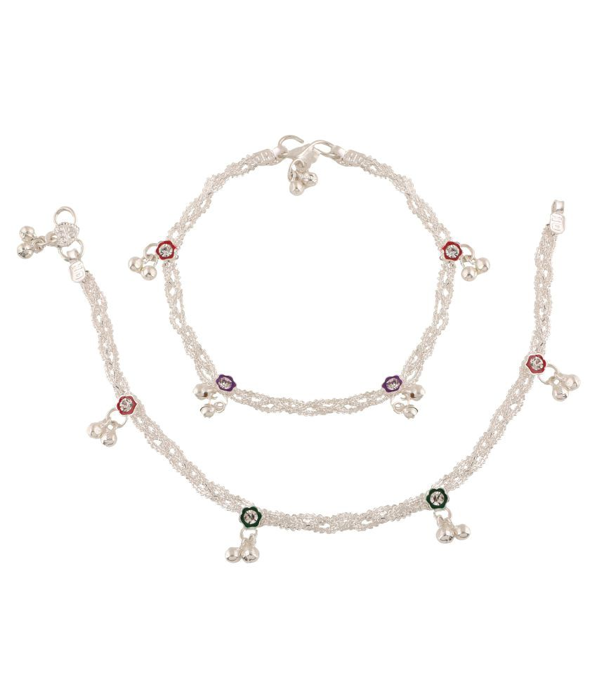 Fashionaya Mujlticolour Alloy Anklet