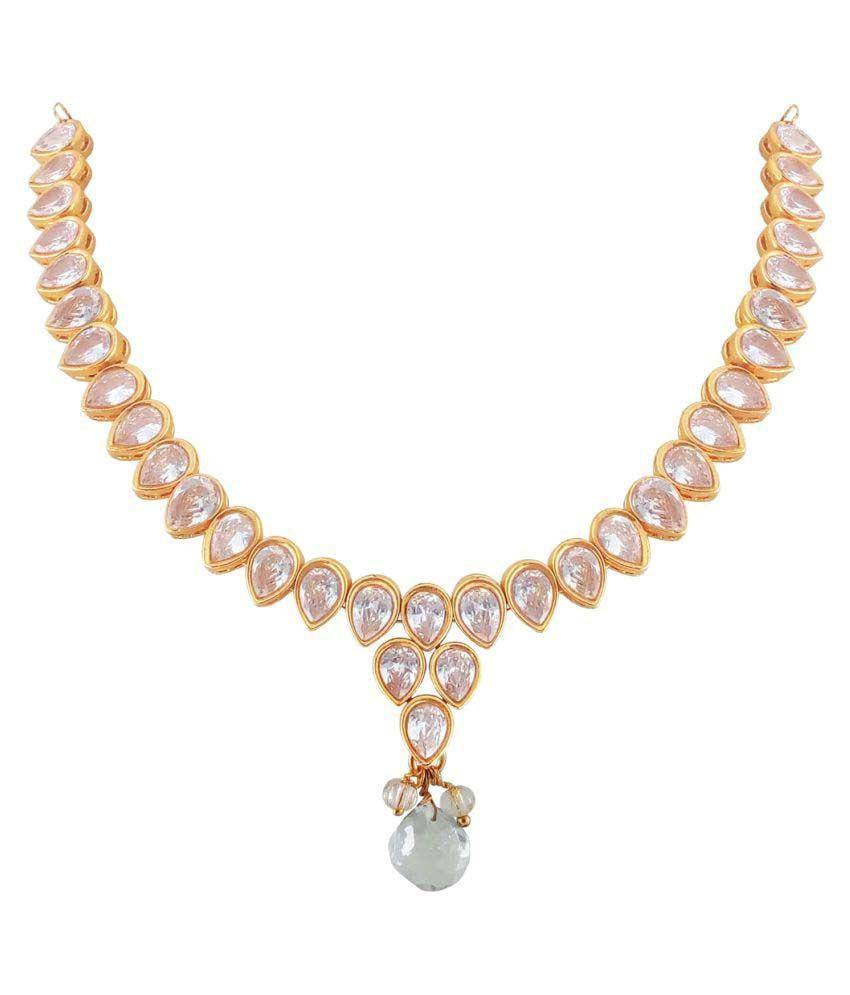Rejewel Golden Necklaces Set