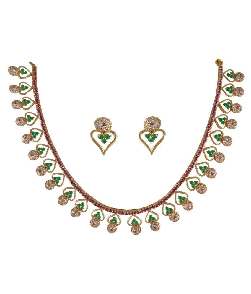 Rejewel Multicolour Necklace Set