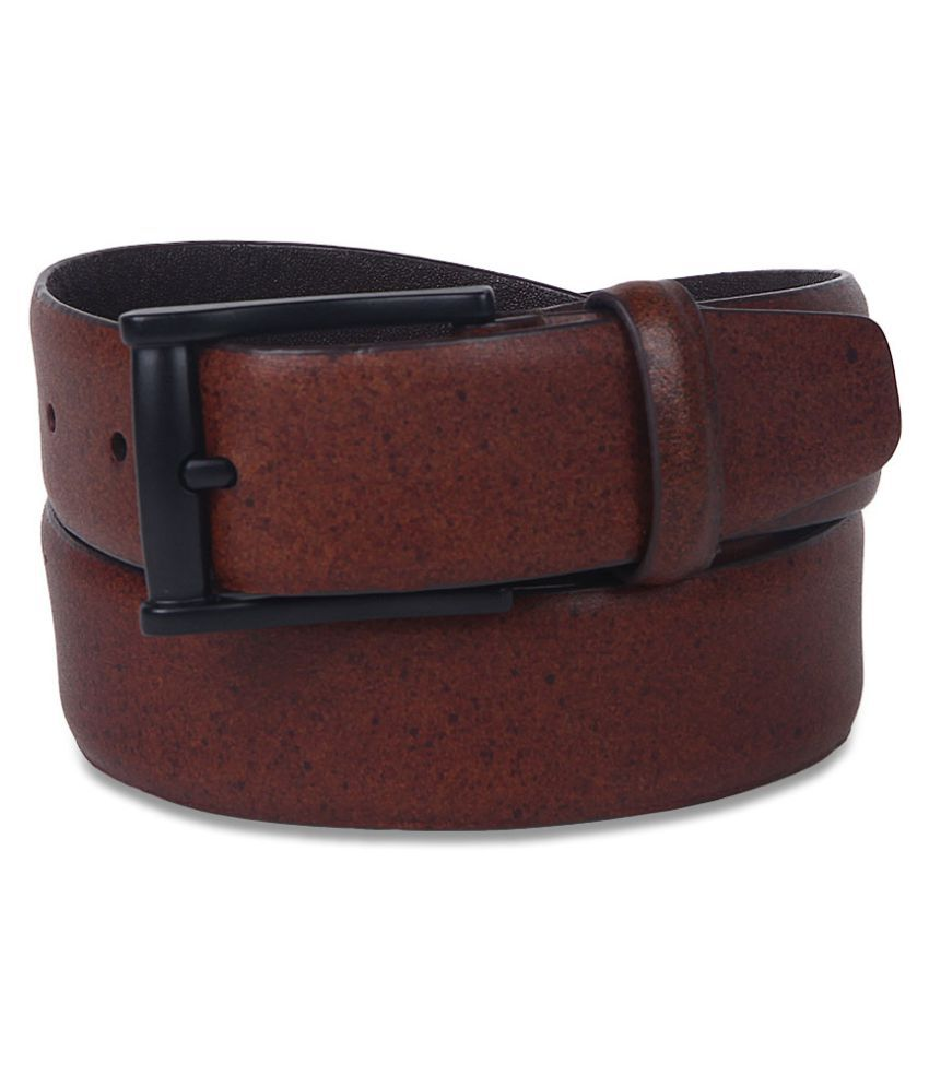 John Players Brown Leather Formal Belts