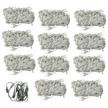 Gold Dust White 40W Festival Decorative Lights With Connector- Set Of 12