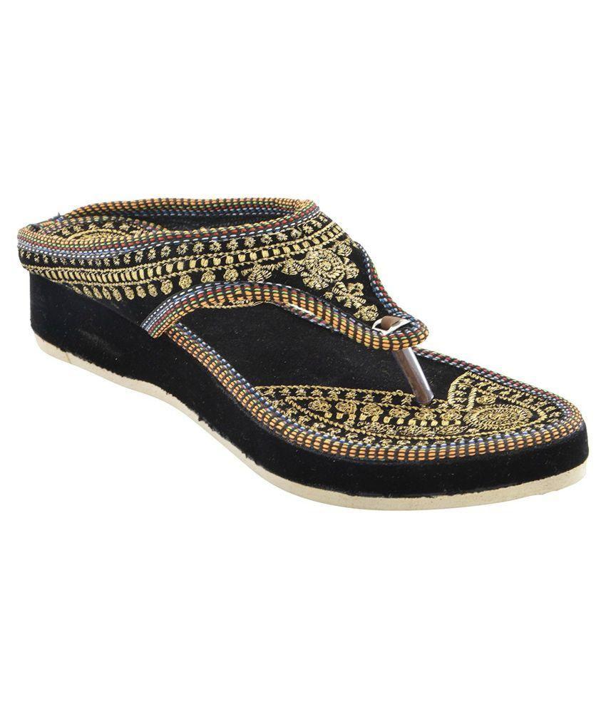 Rajsahi Black Platforms Heels