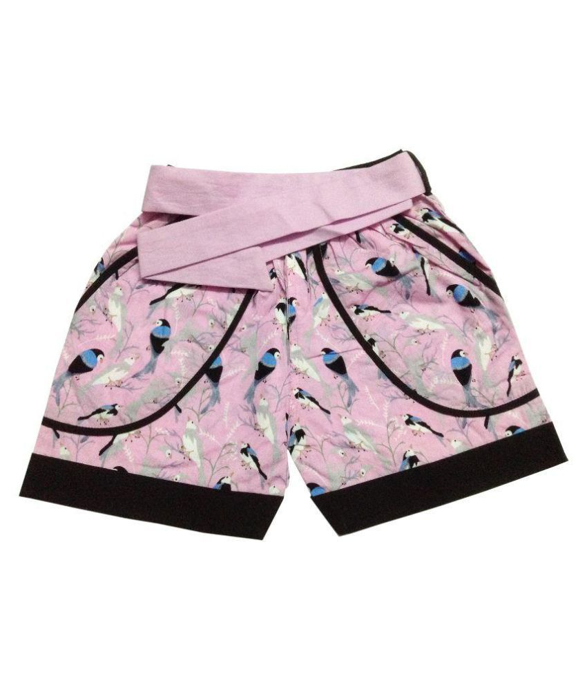 Vestiscraft  PInk Cotton Shorts