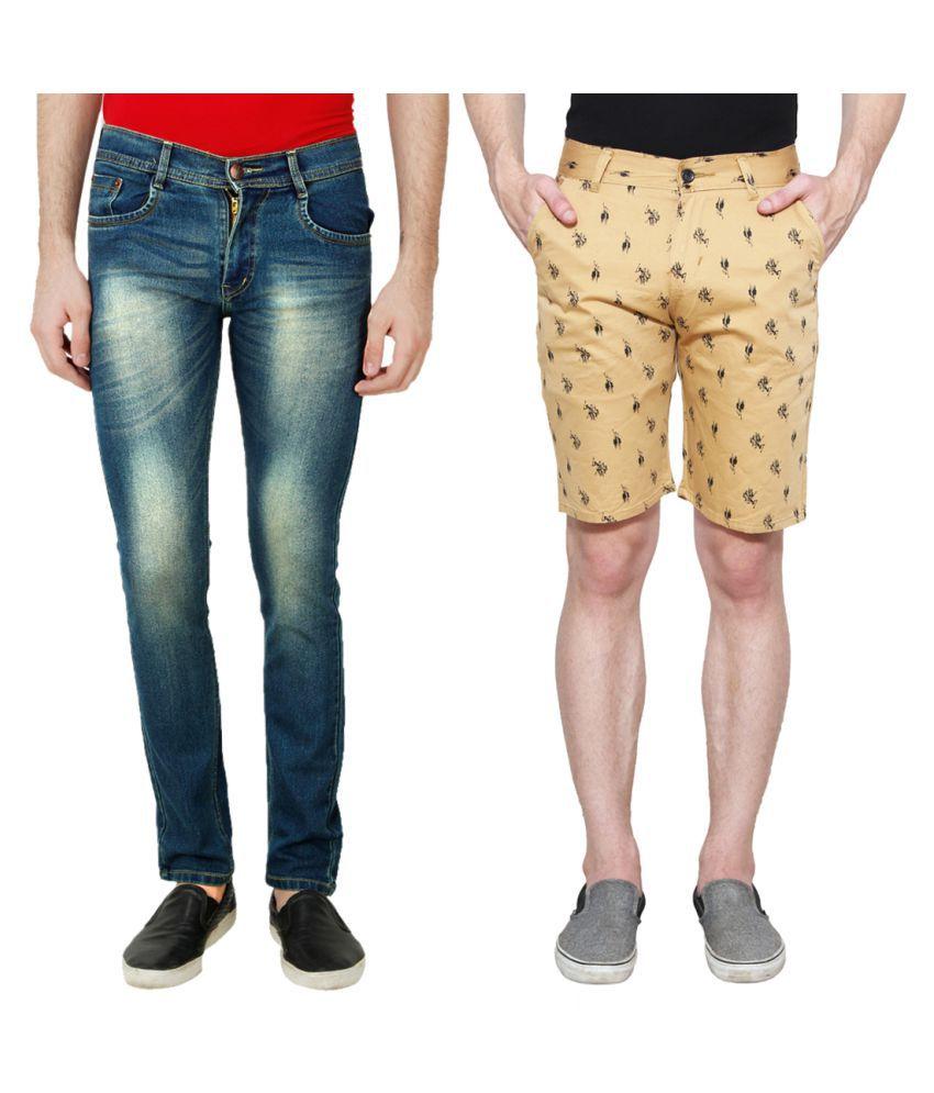 Ansh Fashion Wear Blue Regular Fit Basic