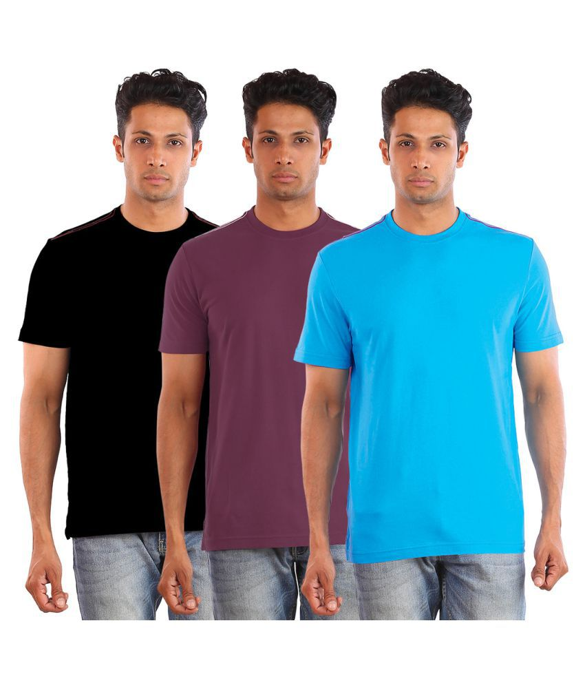Huetrap Multi Round T-Shirt Pack of 3