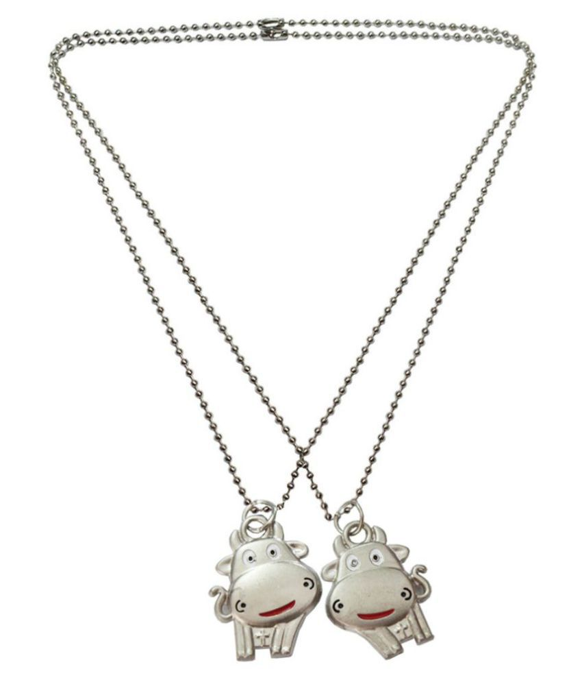 Mens Jewell Silver Friendship Day Special Hippo Fashion Pendant