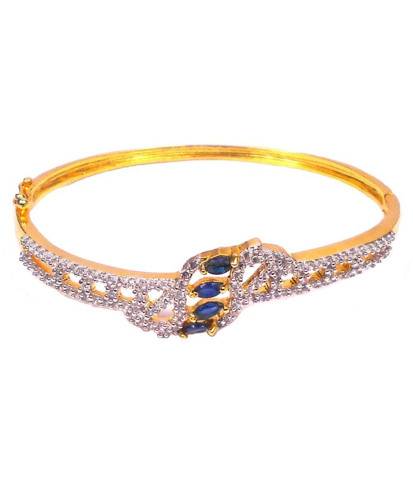 Rejewel Multicolour American Diamond Studded Bracelet