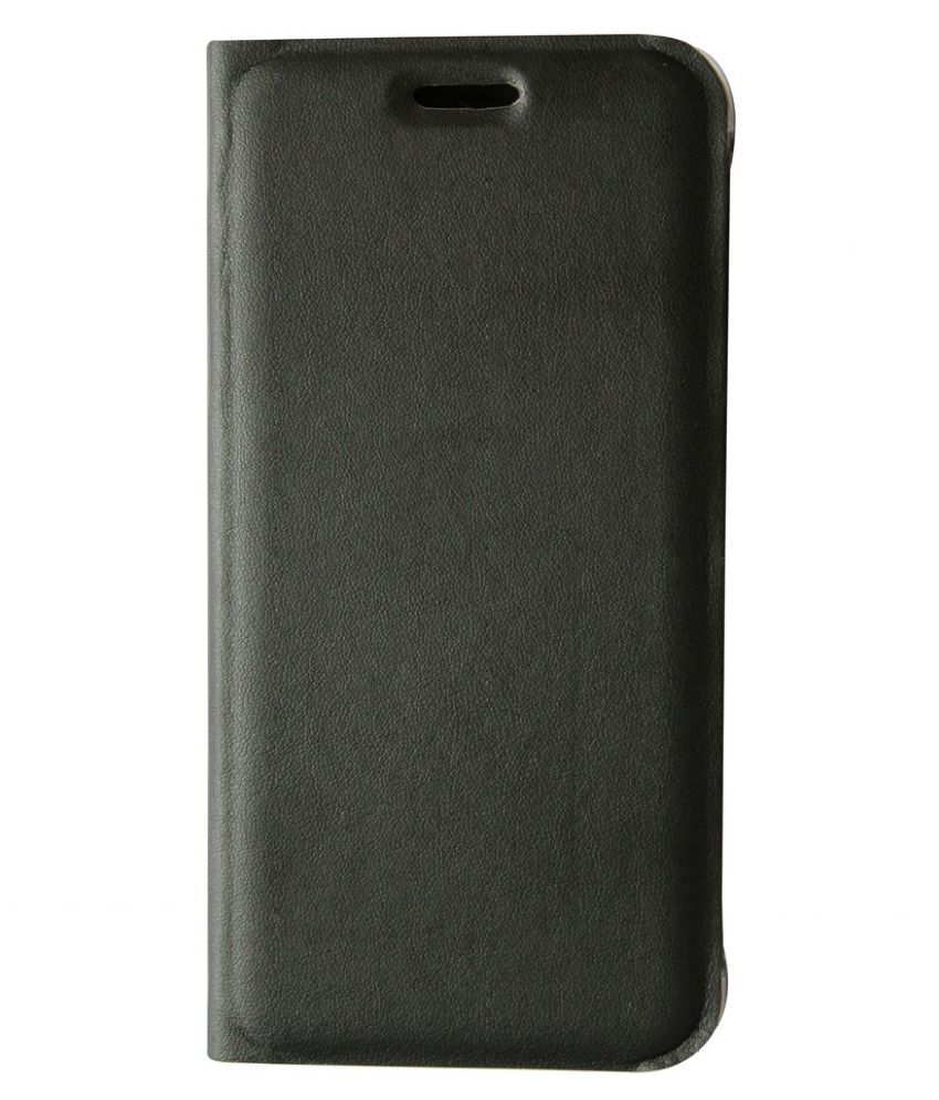 Lenovo A6000 Flip Cover by JKR - Black