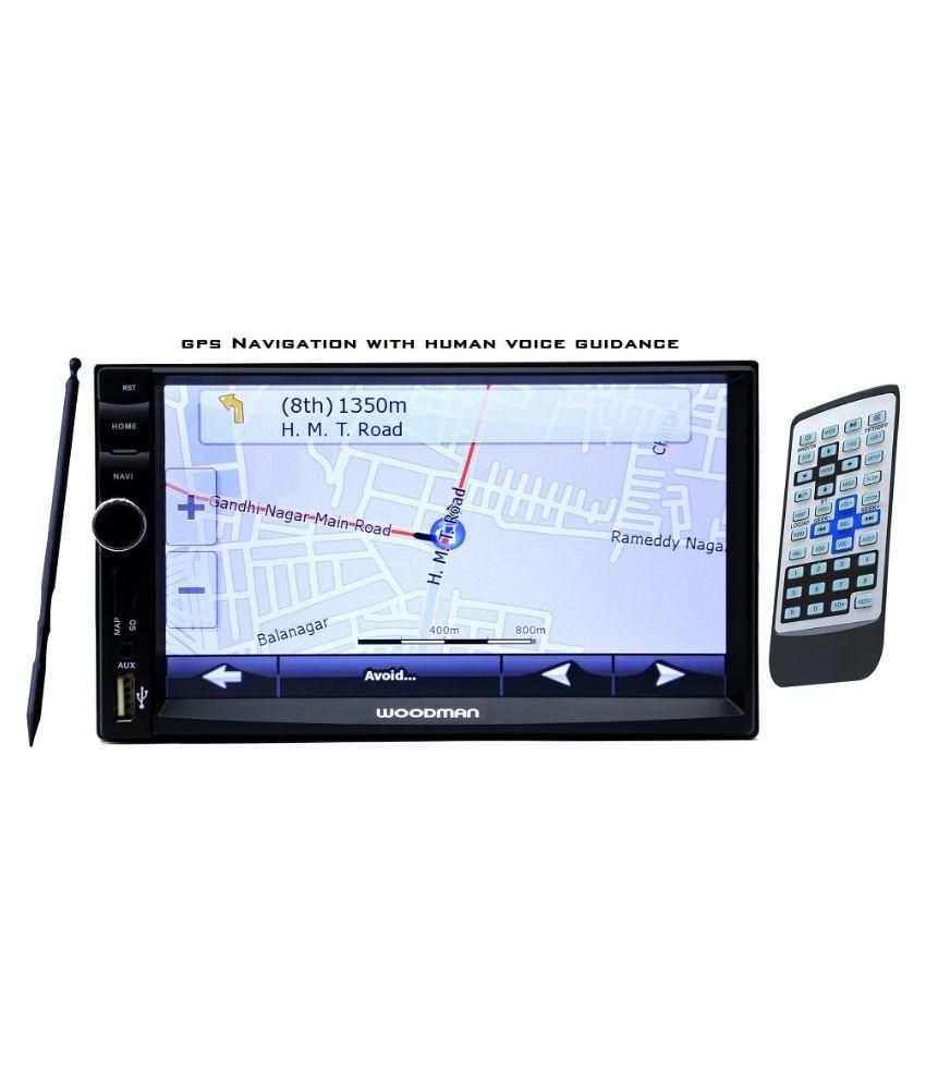 Gps Navigation System Product : Woodman double din with gps navigation system bluetooth