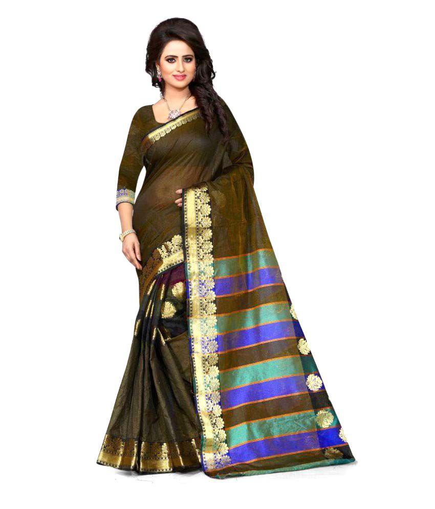 Vishvam Creation Green Art Silk Saree