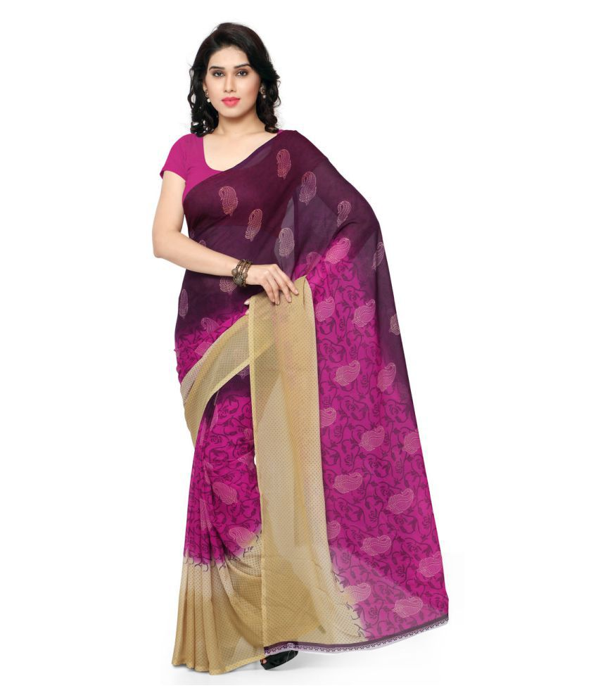 Anand Sarees Multicoloured Georgette Saree