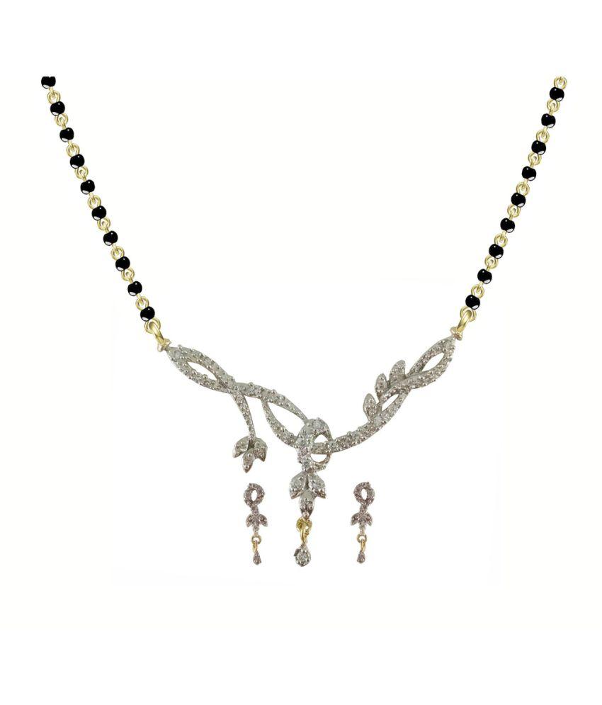 Rejewel Silver Mangalsutra Set