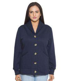 Finesse Navy Fleece Short Coats