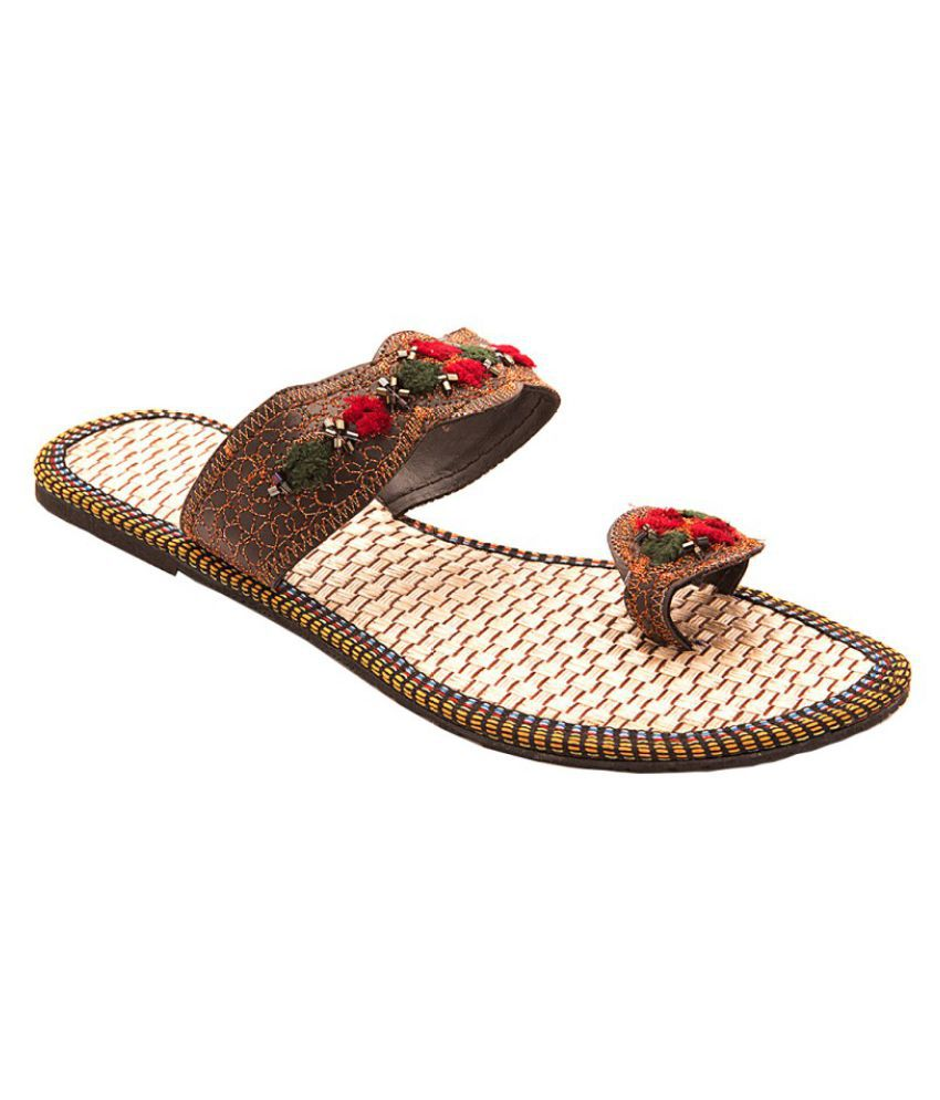 Sai Fashions Brown Flat Flats