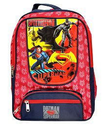 Priority Red Superman School Bag
