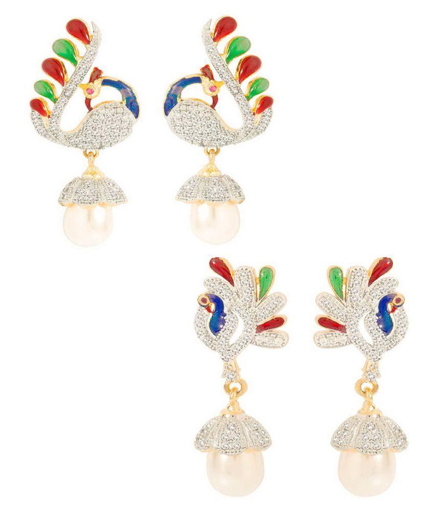 Aditri Multicolor Earring - Set of 2