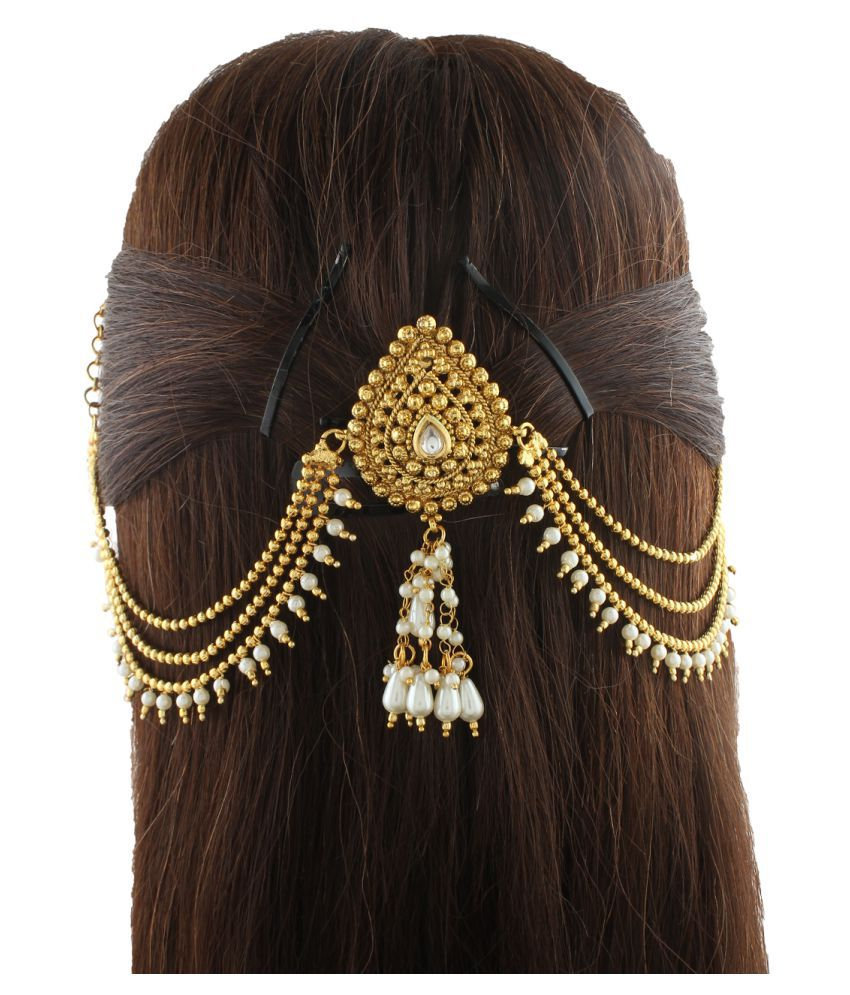 Hair accessories online snapdeal -  Anuradha Art Gold Party Hair Pin Hair Accessories