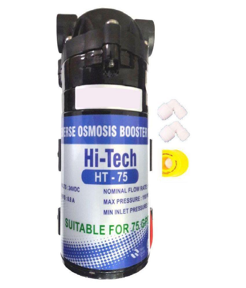 Hitech Ro Booster Pump Motor 24v Dc Diaphragm 75 Gpd Water