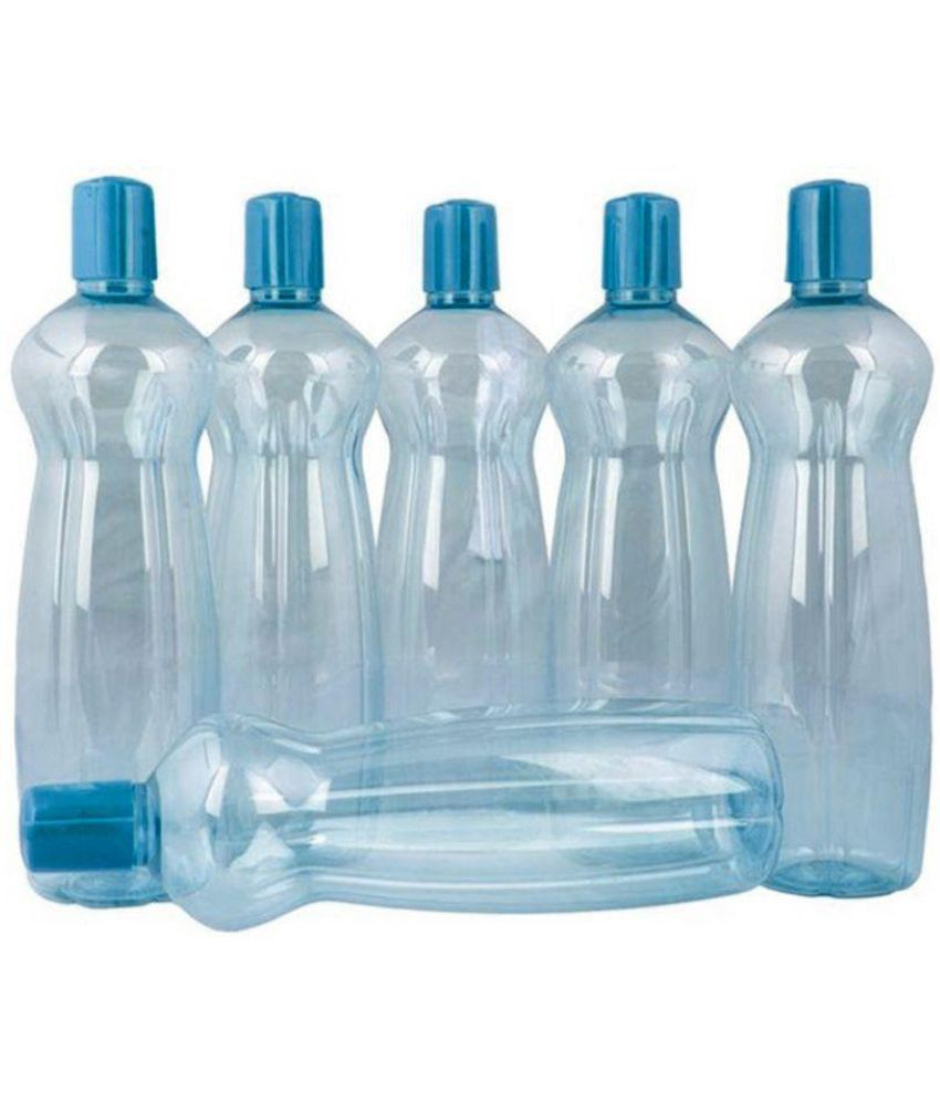 Water Bottle Set: Milton Blue Fridge Bottle Set Of 6 Available At SnapDeal