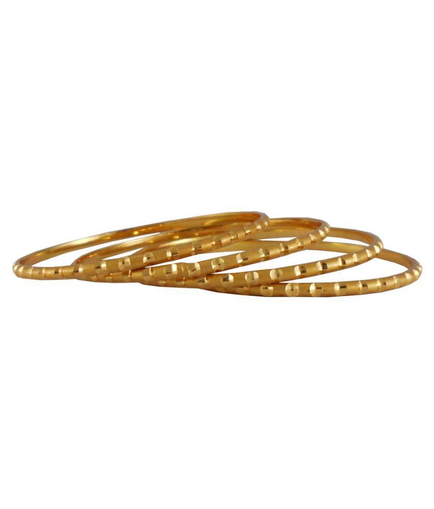 Rejewel Golden Bangle - Set of 4