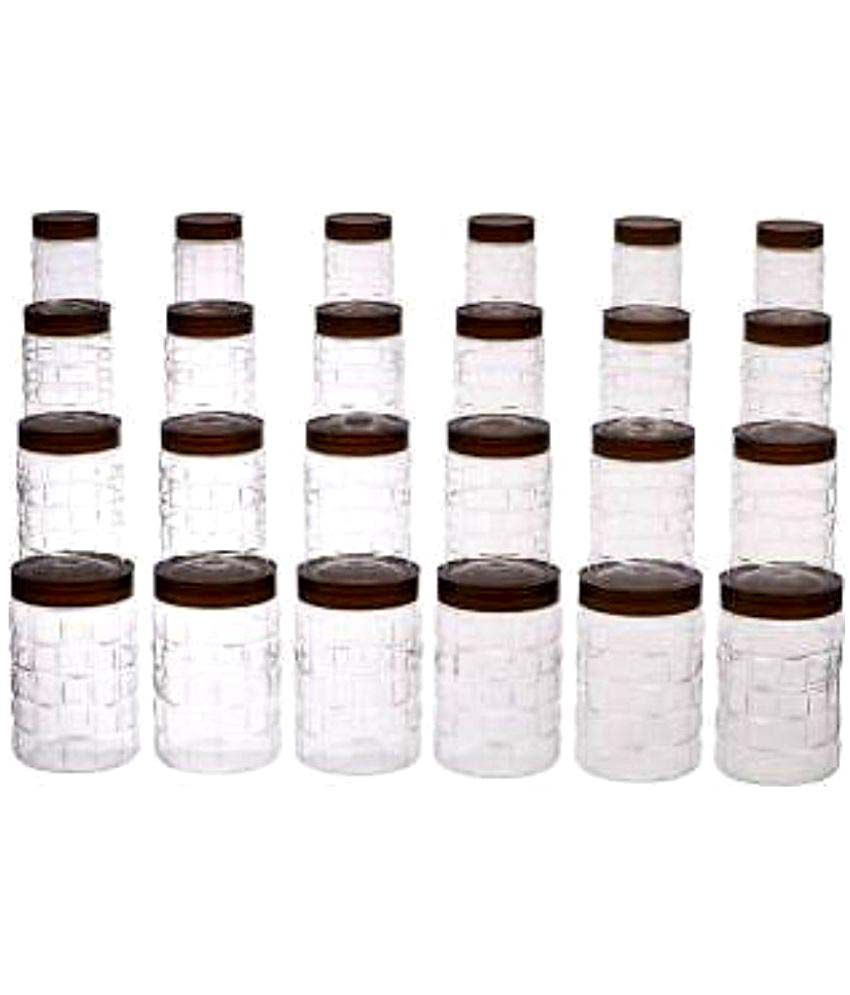 Steelo 24 pcs PET Container Set - {200ml, 300ml, 600ml,1200ml} x 6 (Solitaire)