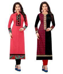 Tulsi Fashion Multicoloured Cotton Printed Semi Stitched Kurti