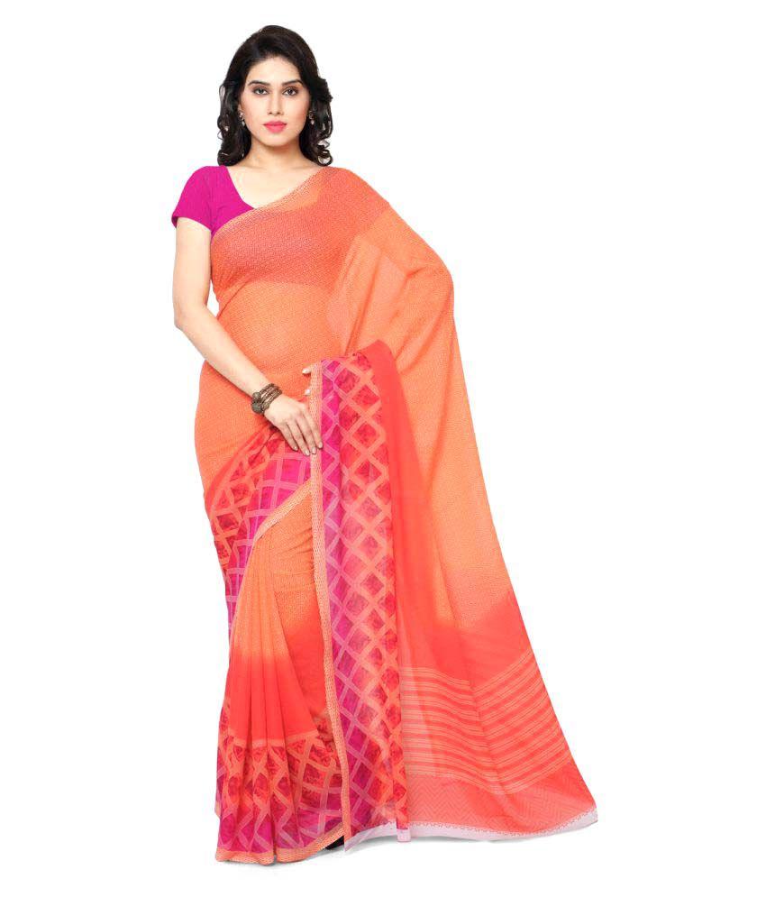 Kashvi Sarees Multicoloured Synthetic Saree