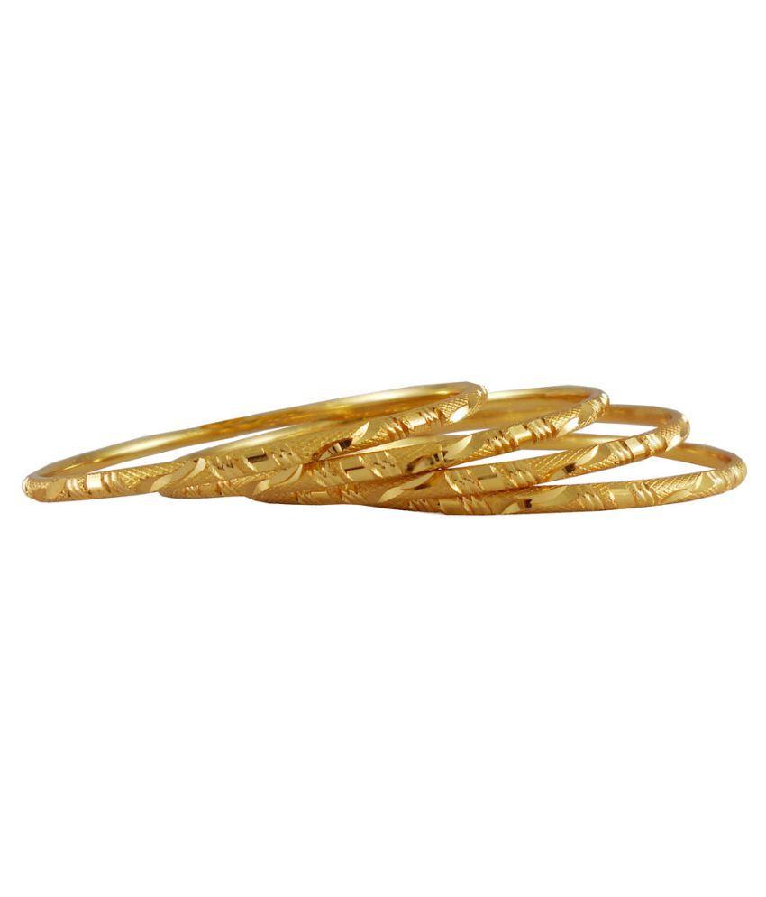 Rejewel 18k Gold Plated Bangles For Women