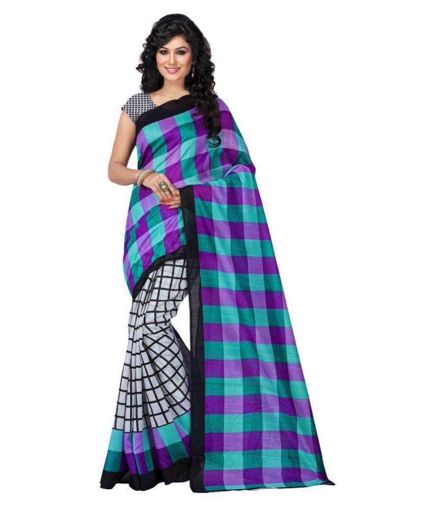 Wama Fashion Multicoloured Cotton Silk Saree