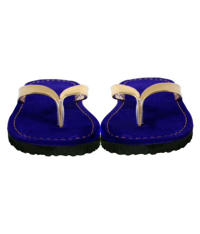 ZASMINA Blue Slippers
