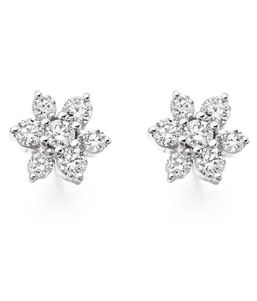 Ag Jewellery 92.5 Silver Diamond Studs