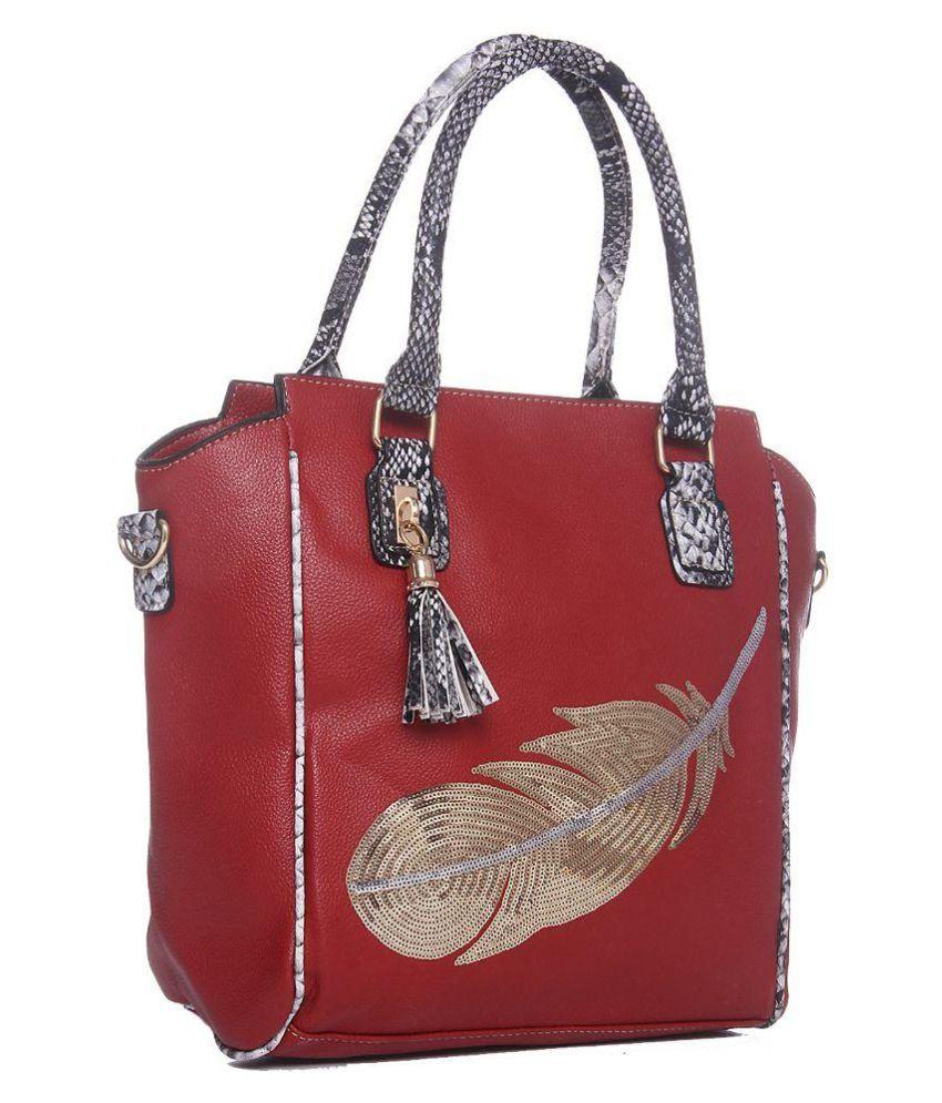 Senora Red Pure Leather Handheld