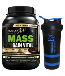 MuscleXP Mass Gain Vital With Shaker - Design 6 - 1 Kg Double Rich Chocolate