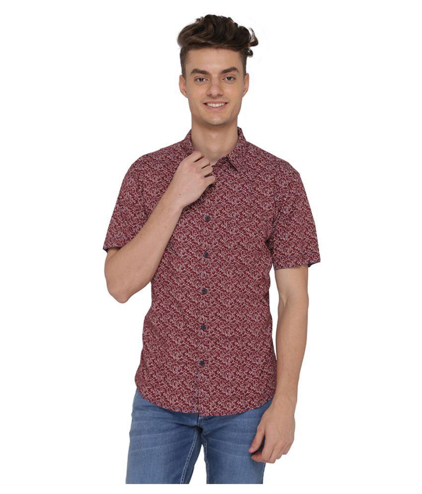 Greenfibre Brown Casuals Slim Fit Shirt