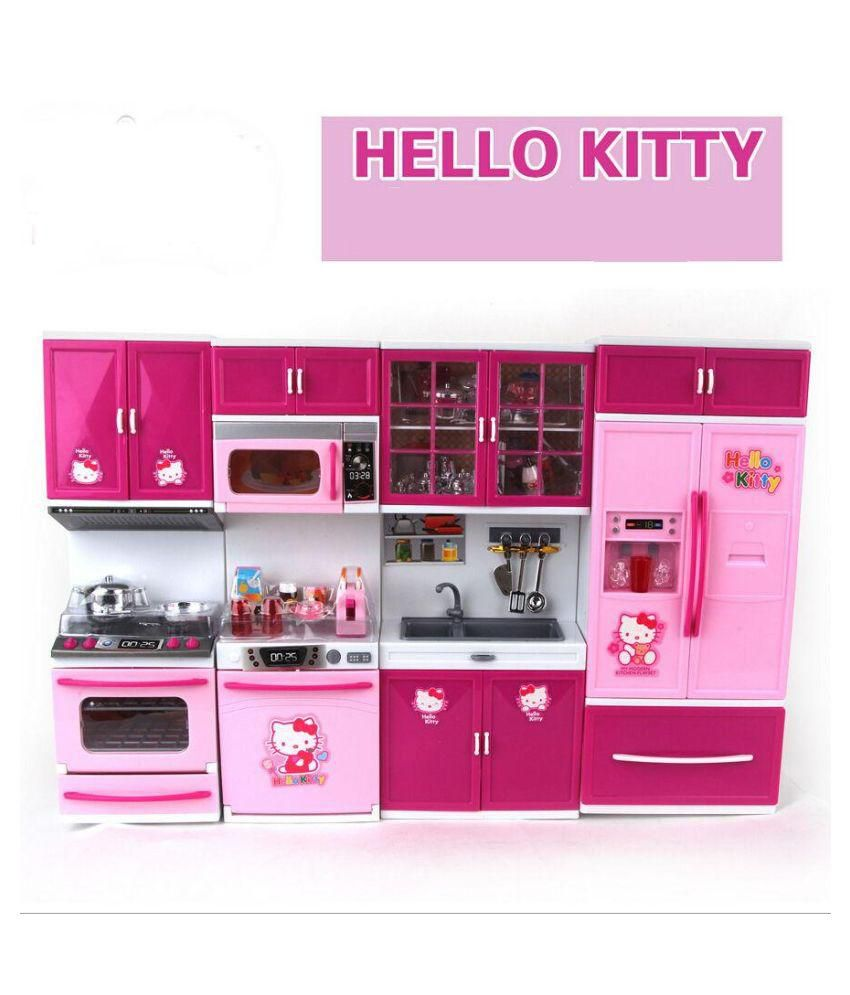 Kitchen Set Online: Param Pink Barbie Kitchen Set