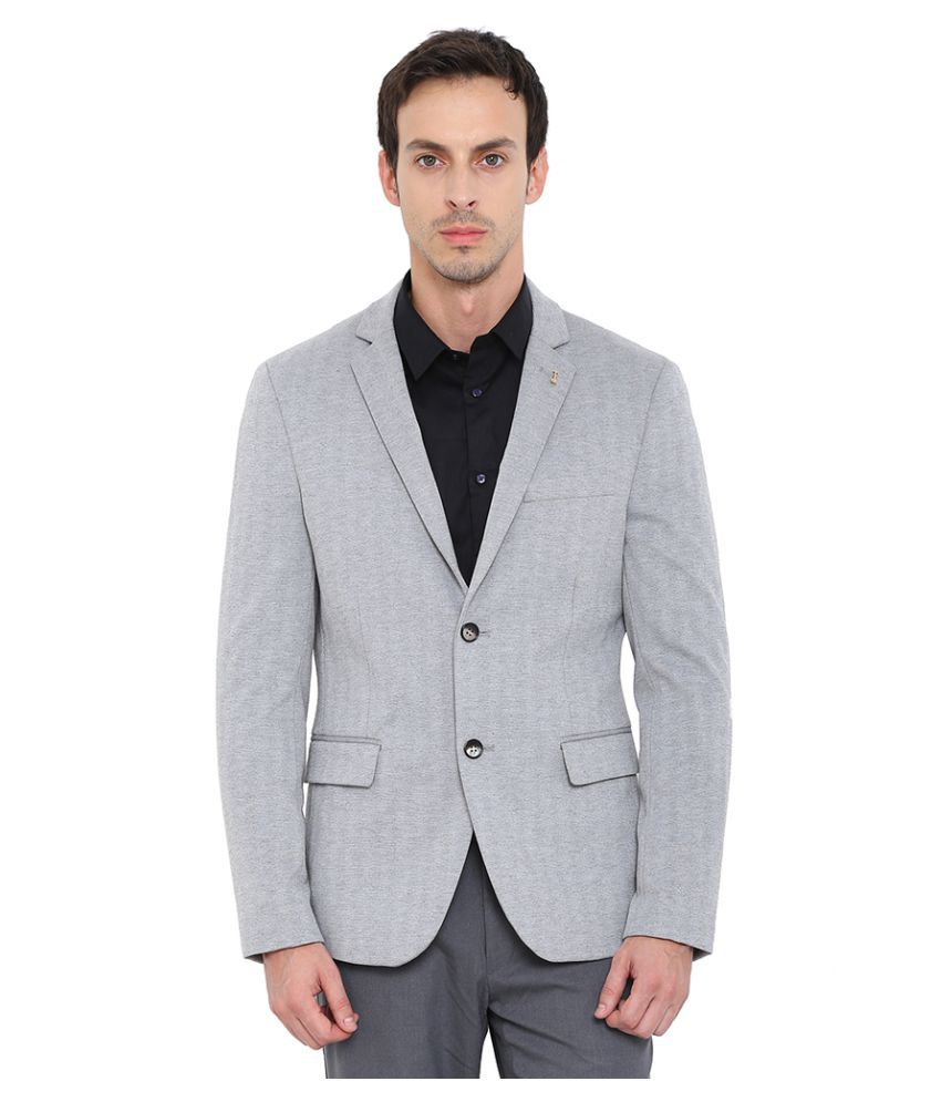 Arrow New York Grey Solid Formal Blazers