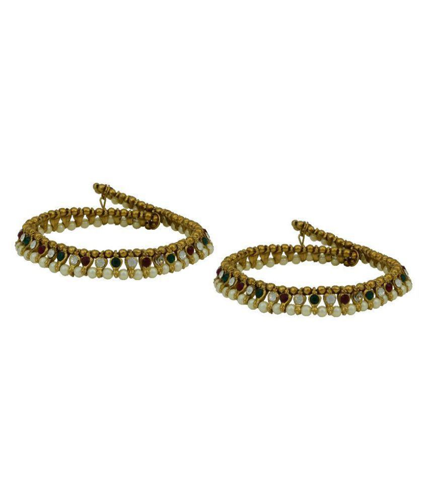 High Trendz Golden Pair of Anklets