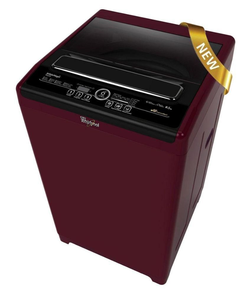Whirlpool 6.5 WHITEMAGIC ROYALE (6.5 KG WINE) Fully Automatic Top Load Washing Machine.