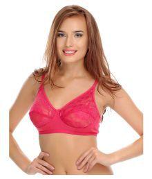 Clovia Pink Cotton Lycra T-Shirt/ Seamless Bra