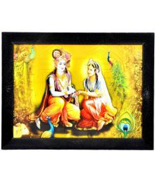 Gojeeva Textured Radha Krishna Texture Effect Art Prints With UV - 654792234491
